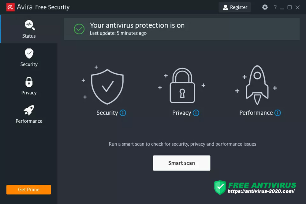 Avira Free AntiVirus 2021 for Windows